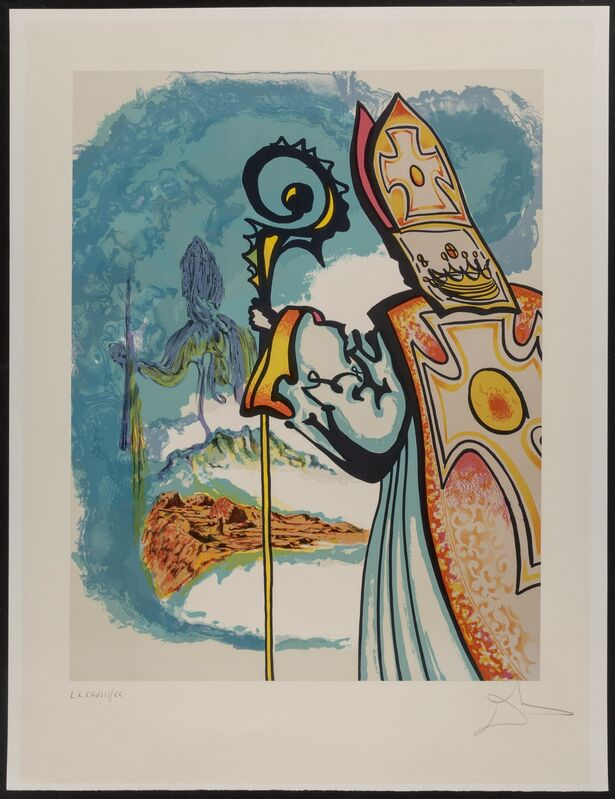 Salvador Dalí, 'King Richard, from Ivanhoe', 1978, Print, Lithograph in colors on Arches paper, Heritage Auctions