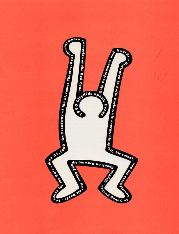 Keith Haring, 'Keith Haring, CityKids Speak Gala Program ', 1990, Ephemera or Merchandise, Paper and color ink, Lot 180