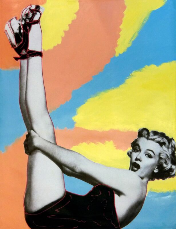 Steve Kaufman, 'MARILYN - HEADS UP!', 1995-2005, Painting, HAND PAINTED OIL AND SILKSCREEN ON CANVAS, Gallery Art