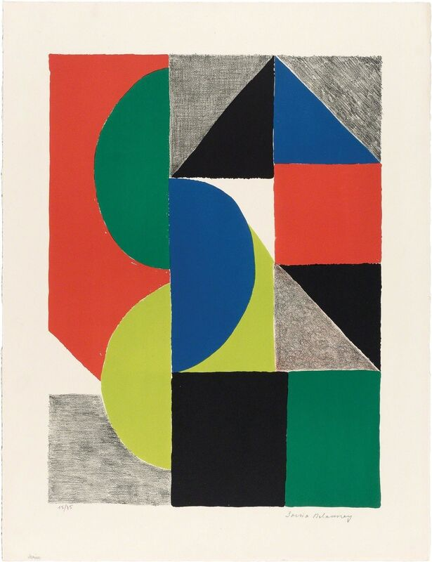 Sonia Delaunay, 'VENISE', 1969, Print, Color lithograph on wove paper, Doyle