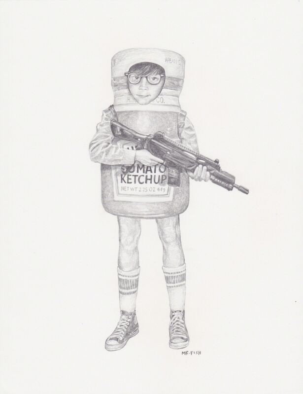 Mr. Fish, 'Anger', 2010, Drawing, Collage or other Work on Paper, Graphite on paper, Robert Berman Gallery