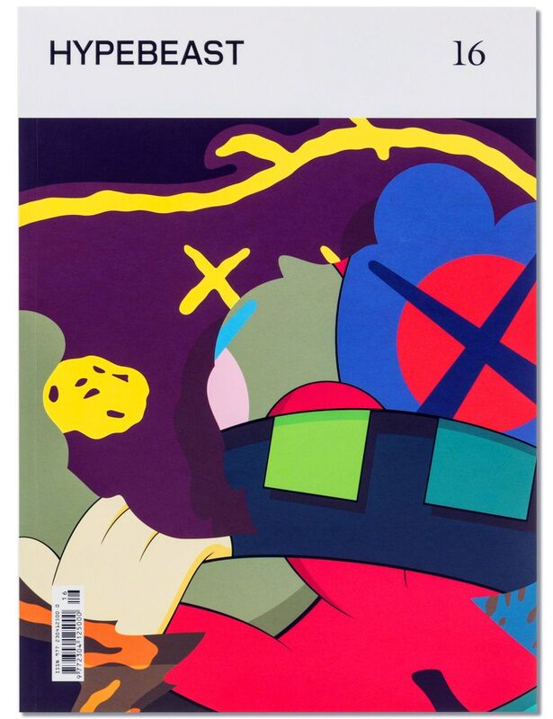 KAWS, 'KAWS illustrated cover art (Kaws Hypebeast 2016)', 2016, Books and Portfolios, Die-cut print superimposed over offset lithographic cover, Lot 180