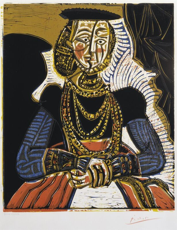 Pablo Picasso, 'Portrait of a Woman after Cranach the Younger', 1958, Print, Linocut on paper, Gallery Red