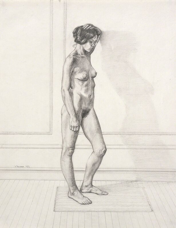 William Beckman, 'Study For Diana #1, facing right', 1972, Drawing, Collage or other Work on Paper, Pencil on paper, Forum Gallery