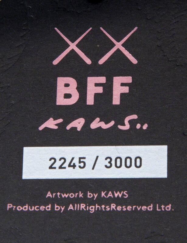 KAWS, 'BFF (Black)', 2016, Sculpture, Stuffed plush figure, Julien's Auctions