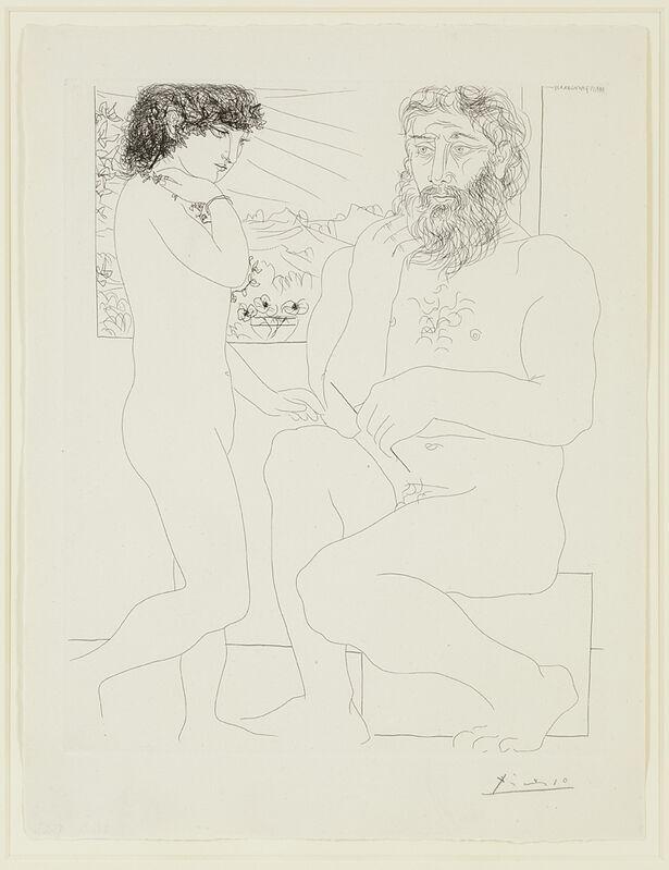 Pablo Picasso, 'Sculpteur et Modele Debout', 1933, Print, Etching on Montval laid paper, Cristea Roberts Gallery