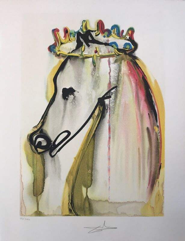 Salvador Dalí, 'Caligula's Horse', 1972, Drawing, Collage or other Work on Paper, Lithograph, Dali Paris