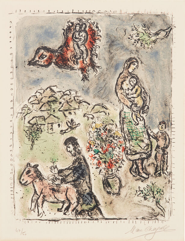 Marc Chagall, 'Entre printemps et été (Between Spring and Summer)', 1973, Print, Lithograph in colors, on Arches paper, with full margins., Phillips