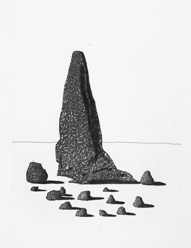 David Hockney, 'The Sexton Disguised as a Ghost Stood Still as Stone', 1969, Print, Etching and aquatint, Goldmark Gallery