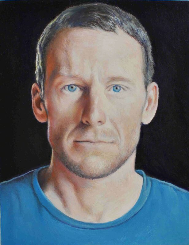 Jim Torok, 'Lance Armstrong', 2012, Painting, Oil on wood, Pierogi