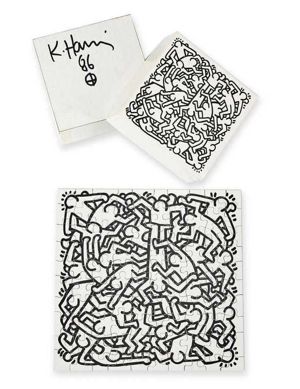 Keith Haring, 'Jigsaw Puzzle', 1986, Print, Screenprint on card puzzle, Roseberys