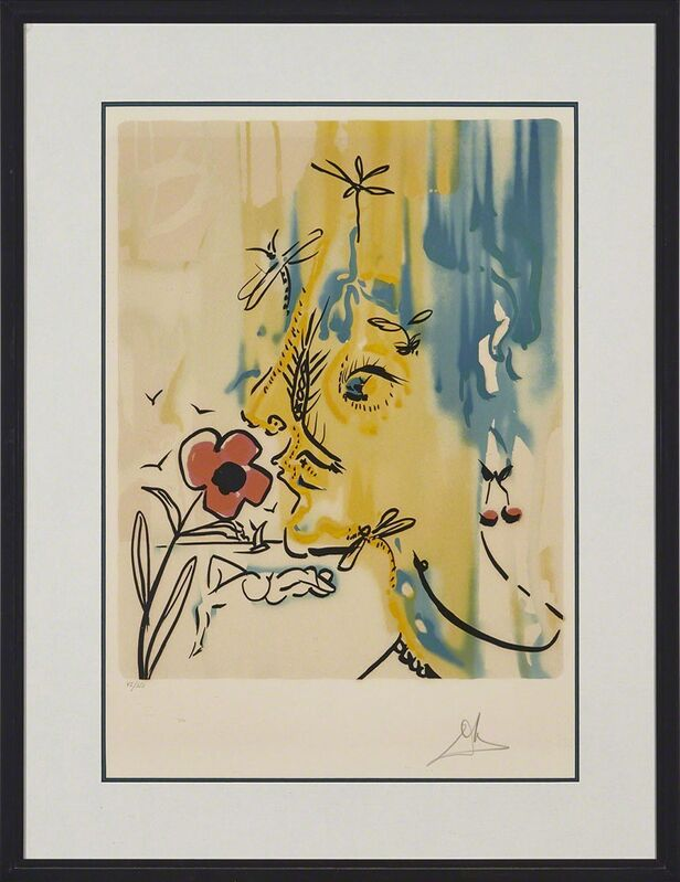Salvador Dalí, 'Fleurs Surréalistes (Flowers For Gala) Folio Of Two: Gala'S Bouquet (Flowers For Gala); Vanishing Face (Printemps De Gala)', 1980, Print, Two colour lithographs from original gouaches on Arches France watermarked paper, Waddington's