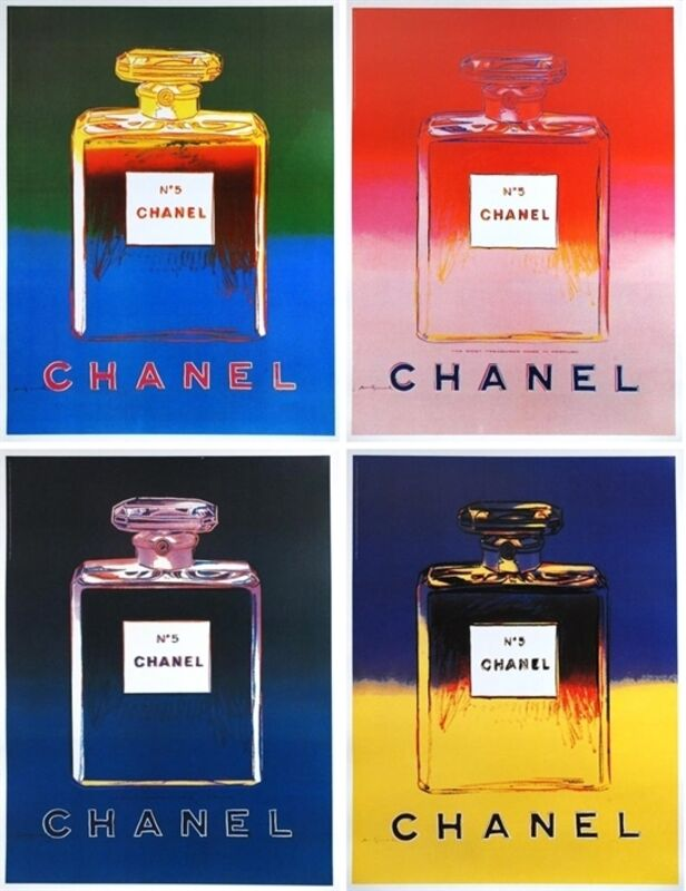 Andy Warhol, 'Chanel No. 5 (set of 4)', 1997, Ephemera or Merchandise, Offset lithograph with linen backing, EHC Fine Art