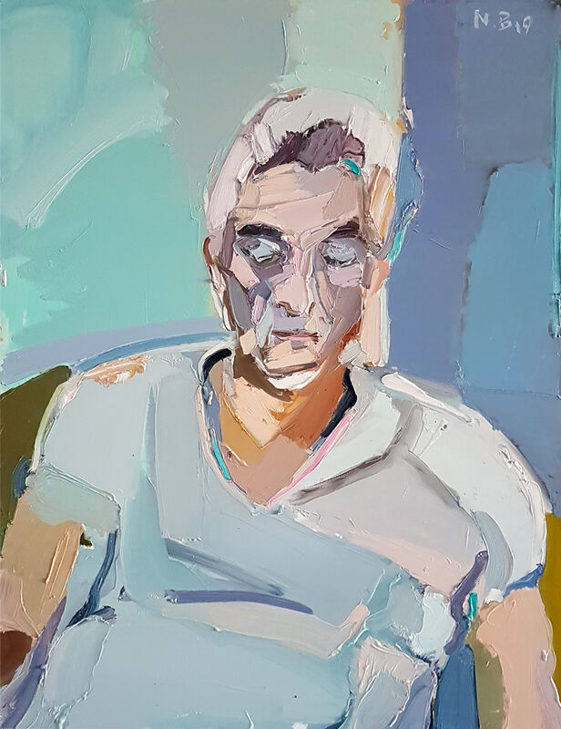 Boaz Noy, 'Imanuel Kleidman ', 2019, Painting, Oil on linen, Rosenfeld Gallery