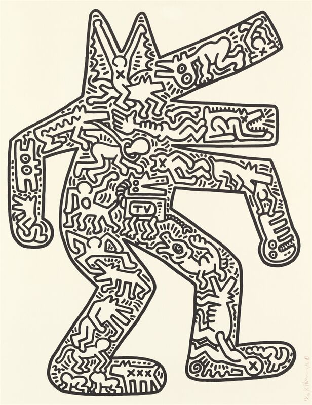 Keith Haring, 'DOG', 1985, Print, Lithograph, on Rives BFK paper, with full margins, Carroll Art
