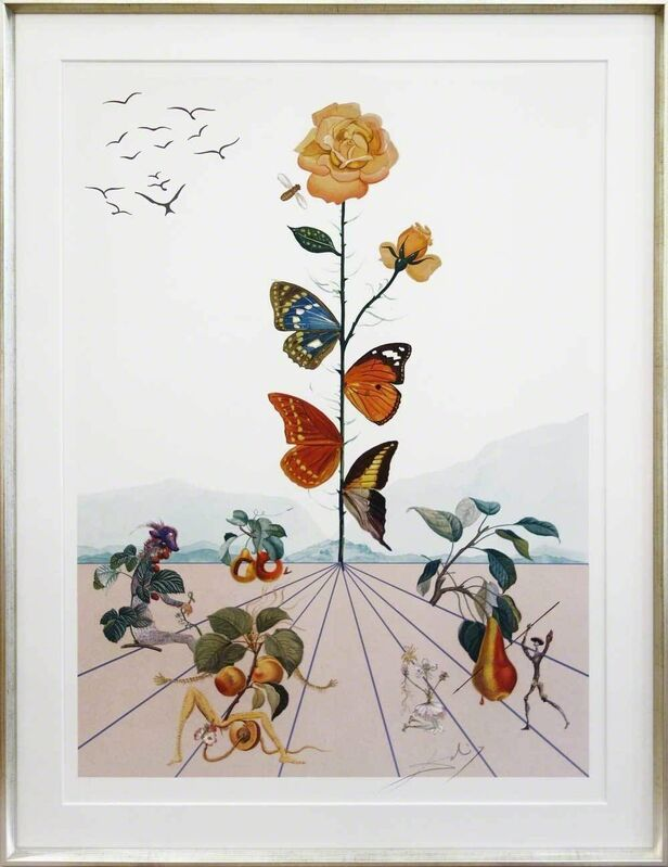 Salvador Dalí, 'Flordali II', 1981, Print, Lithograph with embossing on vellum; framed on request, Galerie Kellermann
