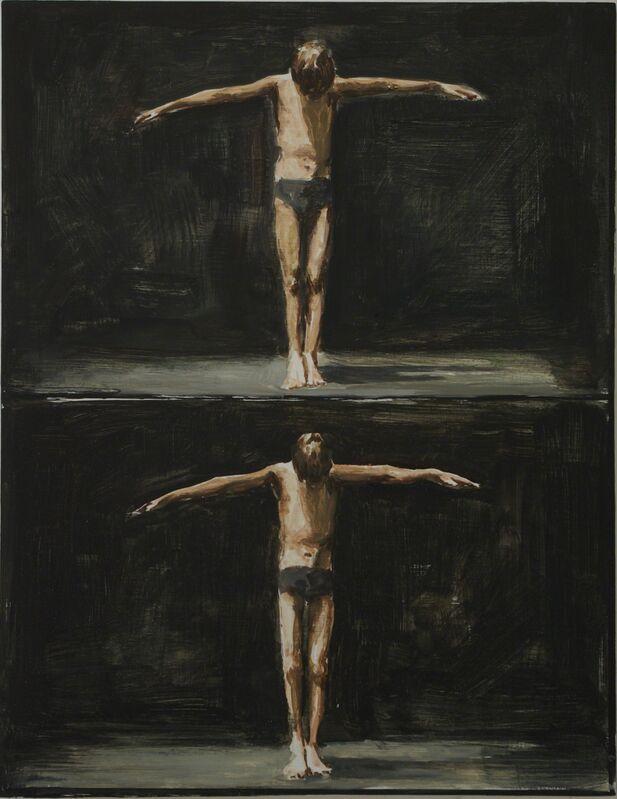 Jasper Hagenaar, 'Double jester', 2014, Painting, Oil on panel, Jeanine Hofland