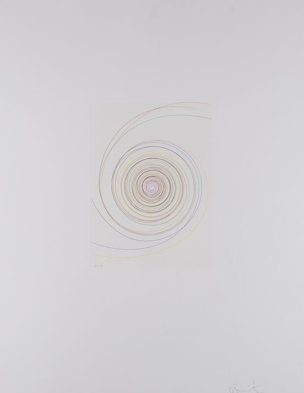 Damien Hirst, 'Billy Mill Roundabout (from In a Spin, The Action of the World on Things I)', 2002, Print, Etching printed in colours, Forum Auctions