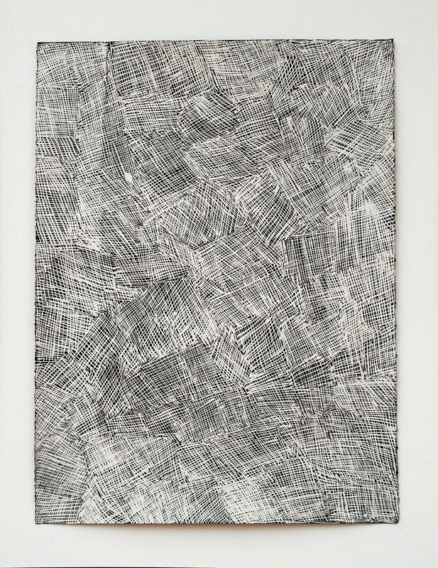 Nyapanyapa Yunupingu, 'Djorra (paper) 13', 2014, Drawing, Collage or other Work on Paper, Felt tip pen, earth pigments on discarded print proofs, Roslyn Oxley9 Gallery