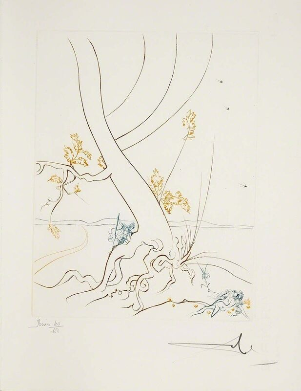Salvador Dalí, 'The Tree Of Knowledge (Le Paradis Perdu, Plate B)', 1974, Print, Hand-signed engraving, Martin Lawrence Galleries