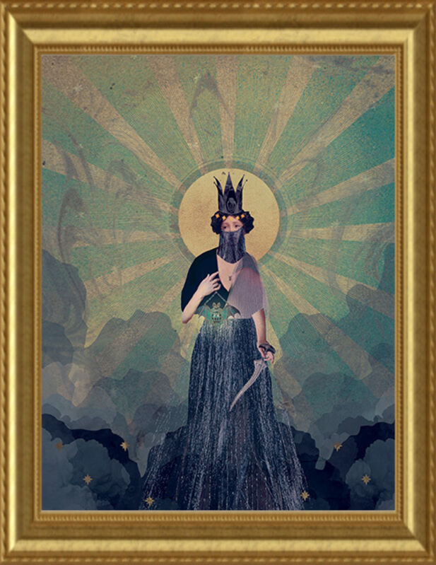 Deming King Harriman, 'Isolation Art:  Pandemic', 2021, Print, Digital collage print, Deep Space Gallery