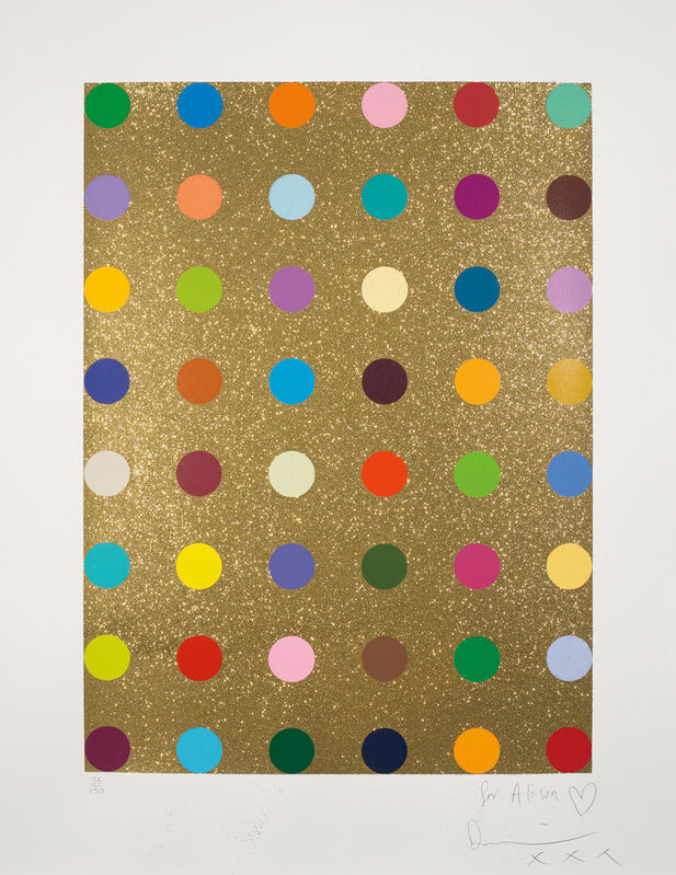 Damien Hirst, 'Aurous Iodide', 2009, Print, Screenprint in colours with gold glitter, on wove paper, with full margins., Phillips