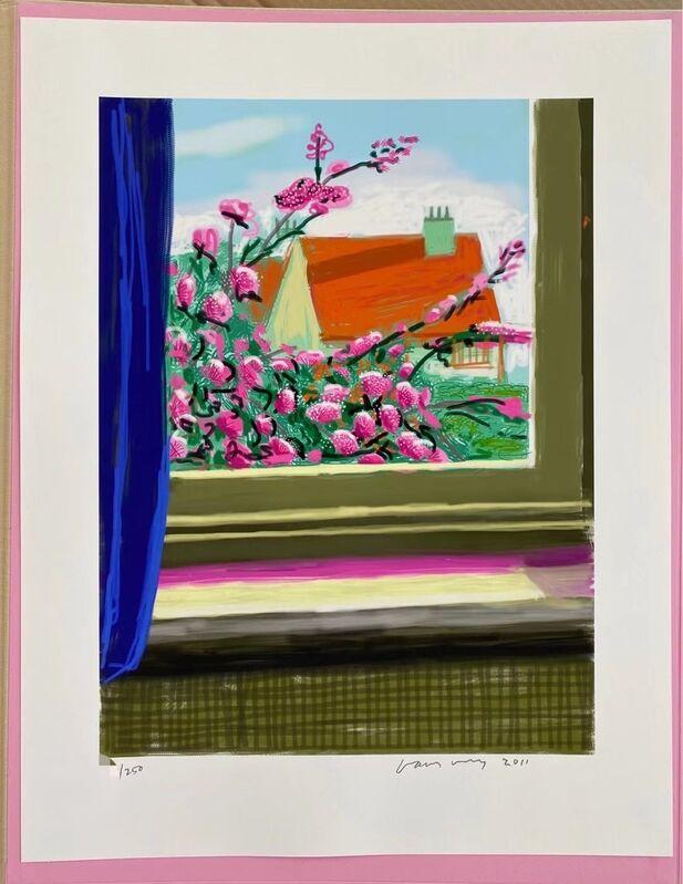 David Hockney, 'My window iPad drawing 'No. 778', 17th April 2011', 2010-2019, Print, 8-colour inkjet print on cotton-fiber archival paper, with printed book, U Square