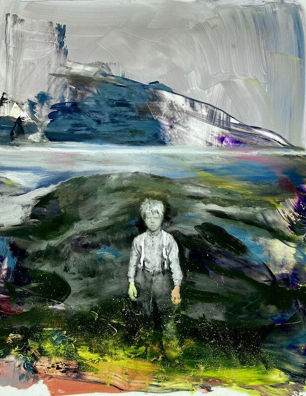 Joshua Flint, 'An Ocean of Air', 2020, Painting, Oil on Mylar mounted on wood, Garvey | Simon