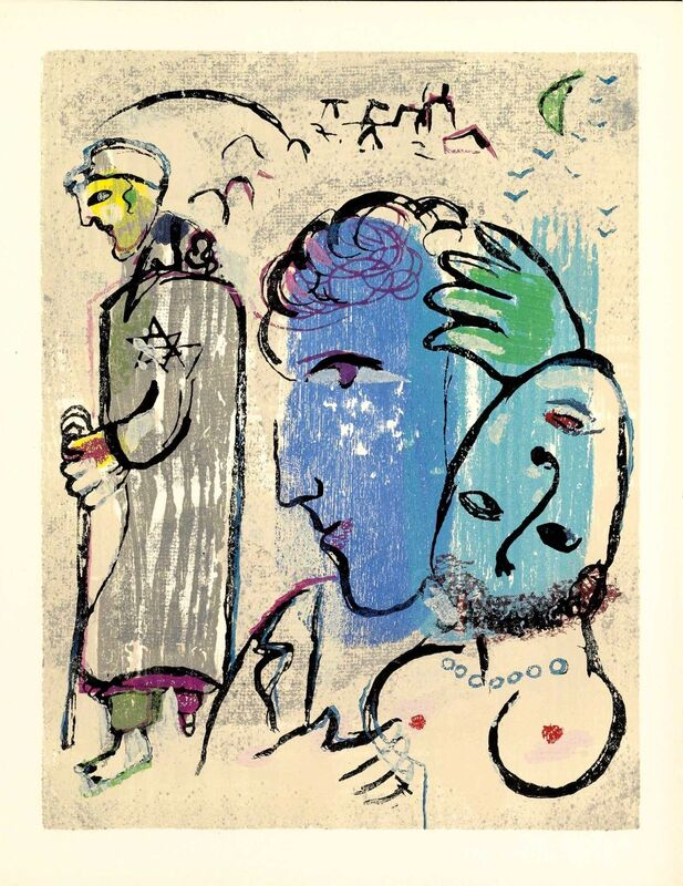 Marc Chagall, 'À Terre (Poèmes, #11)', 1968, Print, Woodcut, Martin Lawrence Galleries
