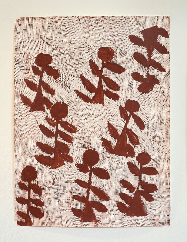 Nyapanyapa Yunupingu, 'Djorra (paper) 11', 2014, Drawing, Collage or other Work on Paper, Felt tip pen, earth pigments on discarded print proofs, Roslyn Oxley9 Gallery