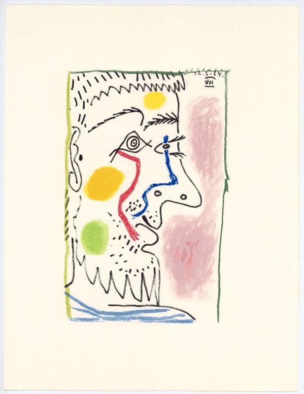 Pablo Picasso, 'Le Gout du Bonheur', 1970, Reproduction, Lithograph on handmade Arches rag paper, artrepublic