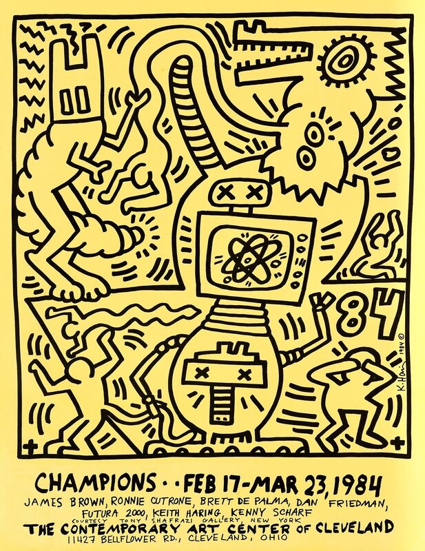 Keith Haring, 'Keith Haring Champions: Contemporary Art Center of Cleveland poster ', 1984, Posters, Offset lithograph, Lot 180