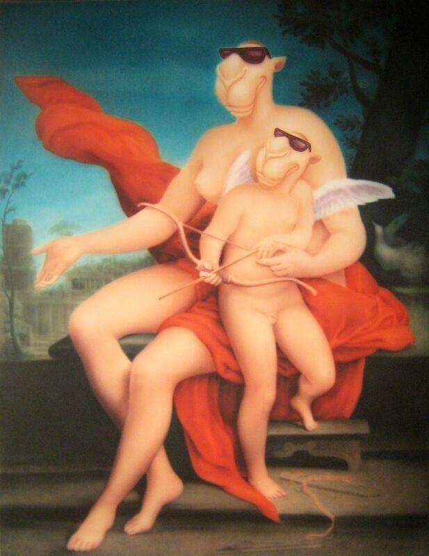 Zhou Tiehai, 'Venus and Cupid (维纳斯和丘比特)', 2008, Painting, Acrylic on canvas, airbrush, ShanghART
