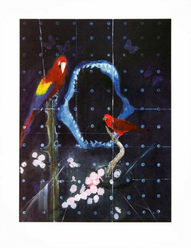 Damien Hirst, 'Red Bird and Parrot with Shark Jaw', 2012, Print, Lithograph on 410gsm Somerset Tub Sized paper, Kenneth A. Friedman & Co.