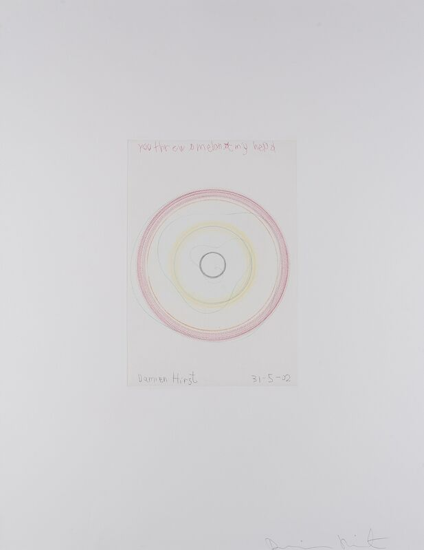 Damien Hirst, 'You Threw a Melon at my Head (from In a Spin, The Action of the World on Things I)', 2002, Print, Etching printed in colours, Forum Auctions