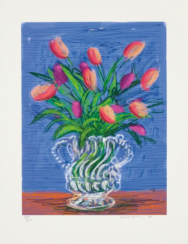 David Hockney, 'Untitled no. 346, from A Bigger Book: Art Edition B', 2010/2016, Print, IPad drawing in colours, printed on archival paper, with full margins, contained in the original blue fabric-covered portfolio, Phillips