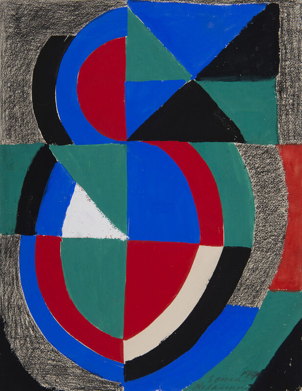 Sonia Delaunay, 'Rythme couleur', 1966, Drawing, Collage or other Work on Paper, Gouache, pencil on wove paper, BAILLY GALLERY