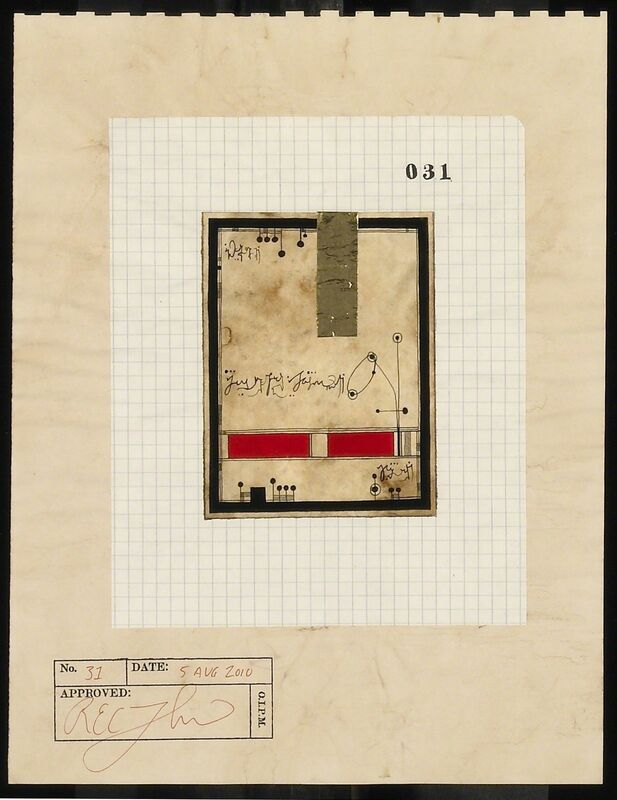 R.E.C. Thompson, 'Document No. 31', 2010, Drawing, Collage or other Work on Paper, Mixed media, Gerald Peters Gallery
