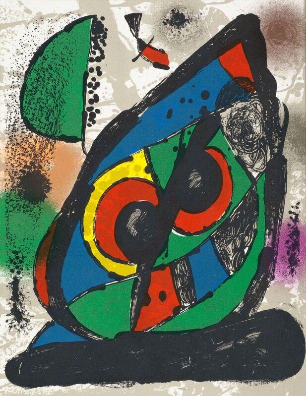 Joan Miró, 'Composition I from Miró Lithographs 4, 1972', 1981, Print, Color lithograph, Hans den Hollander Prints