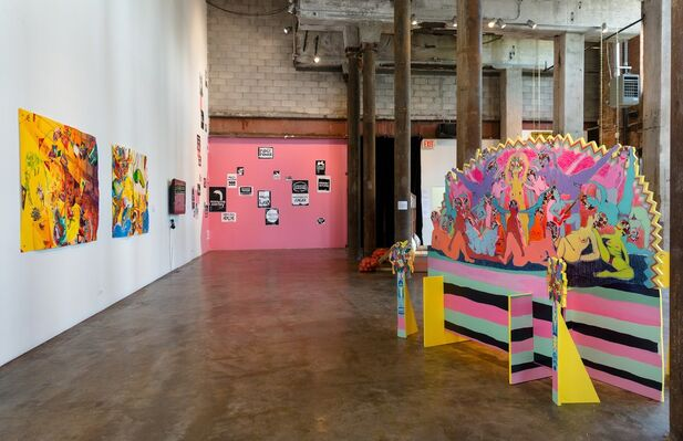 Laugh Back, installation view