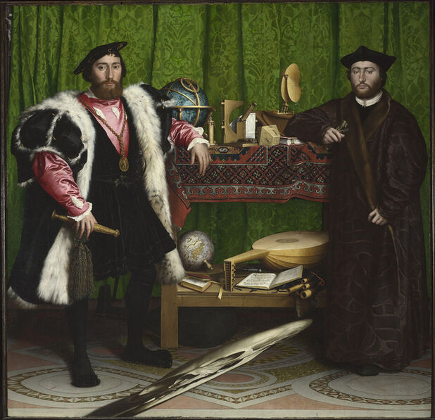 Hans Holbein the Younger, 'Jean de Dinteville and Georges de Selve ('The Ambassadors')', 1533