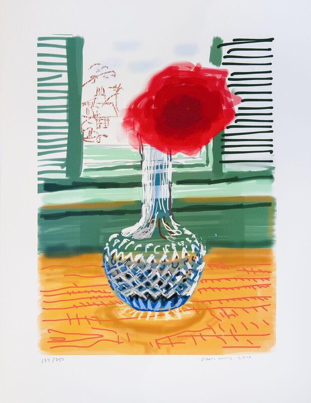 David Hockney, 'My Window: iPad drawing 'No. 281'', 2010, Print, IPad Drawing, Inkjet Print, Shapero Modern