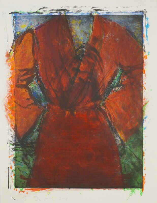 Jim Dine, 'Robe with Wasp Nest', 2013, Print, 8 colour lithograph with photogravure and hand-painting, Cristea Roberts Gallery