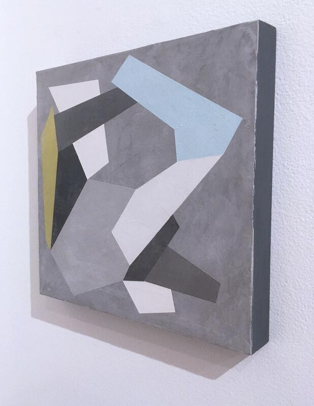 Kati Vilim, 'Habitat Fragmentation II', 2020, Painting, Plaster and acrylic on wood panel, Deep Space Gallery