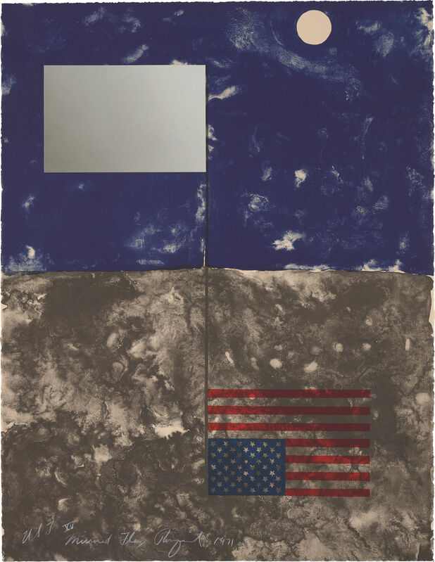 James Rosenquist, 'Mirrored Flag, from Cold Light Series', 1971, Print, Lithograph in colours with Mylar foil, on Arches paper, the full sheet., Phillips