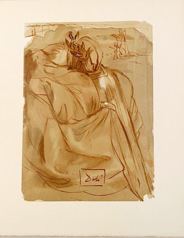 Salvador Dalí, 'La Divine Comédie - Purgatoire 30 - L'annonce d'un grand événement', 1963, Print, Original wood engraving on BFK Rives paper, Samhart Gallery