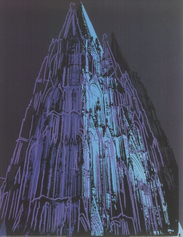 Andy Warhol, 'Koln Cathedral Blue', (Date unknown), Reproduction, Offset Lithograph, ArtWise