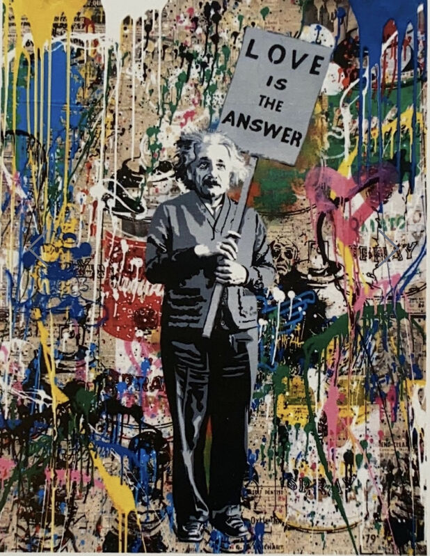 Mr. Brainwash, 'Einstein', 2018, Painting, Silkscreen and mixed media on paper, Artsy x Forum Auctions