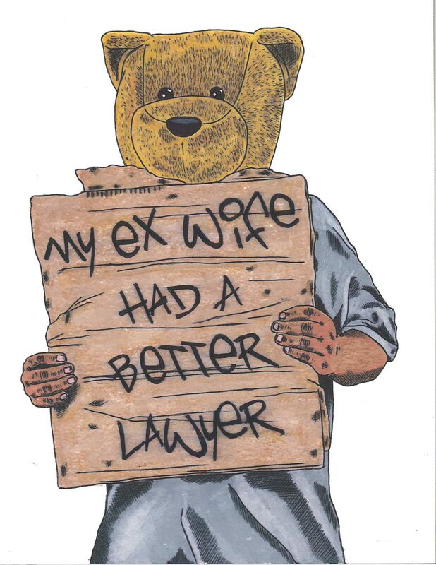 Sean 9 Lugo, 'My Ex Wife Had A Better Lawyer', 2019, Drawing, Collage or other Work on Paper, Marker and ink on Bristol paper, framed, Deep Space Gallery