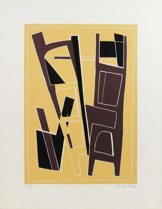 Alberto Magnelli, 'La Ferrage n. 6', 1970, Print, Etching on linoleum on Arches paper, La Maison de la Petite Sara